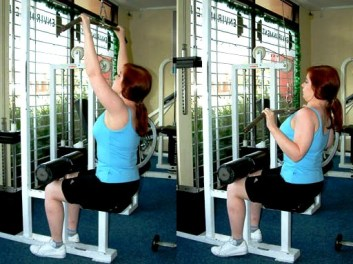 Lat Pulldown on Pulley Machine