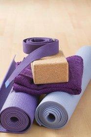 Yoga Mats, Belts, Towel, and Block