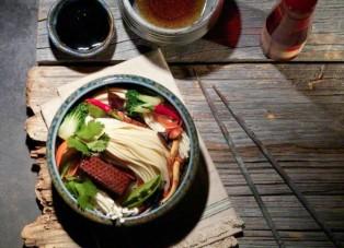 enoki mushroom dish